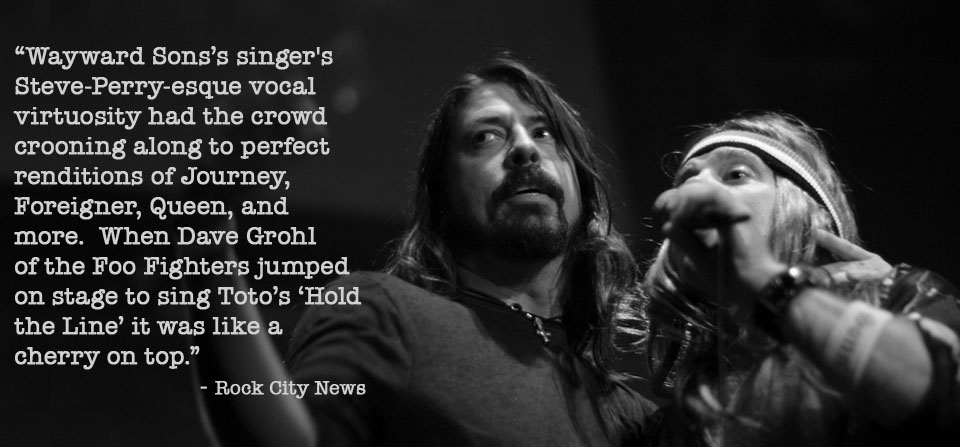 Dave Grohl with Wayward Sons
